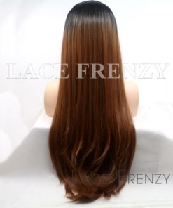 Makenna 22 Inches Ombre' Straight Lace Front Wig